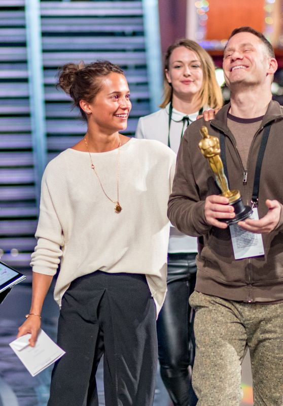 Alicia Vikander – Rehearsals for the 89th Annual Academy Awards in Hollywood 2/25/ 2017