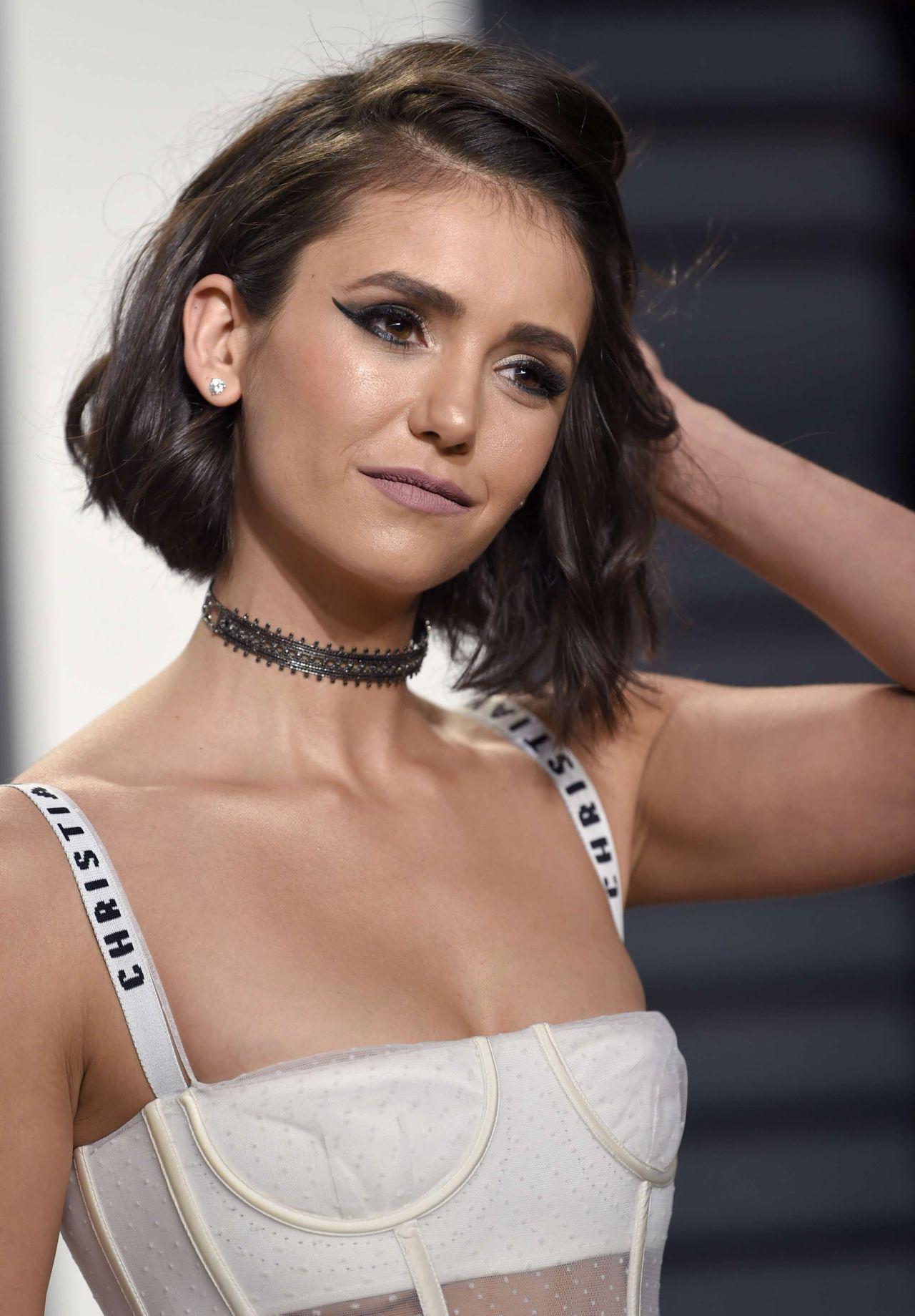 Nina Dobrev At Vanity Fair Oscar 2017 Party In Los Angeles