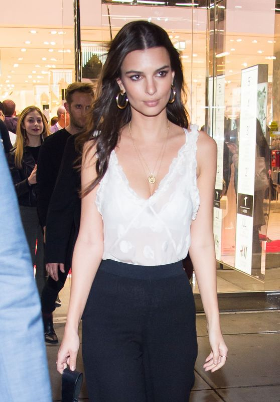 Emily Ratajkowski Hosts H&M Studio Collection Launch Event in New York City 3/1/ 2017