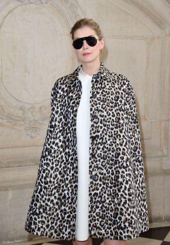 Rosamund Pike at Paris Fashion Week – Christian Dior Show 3/3/ 2017