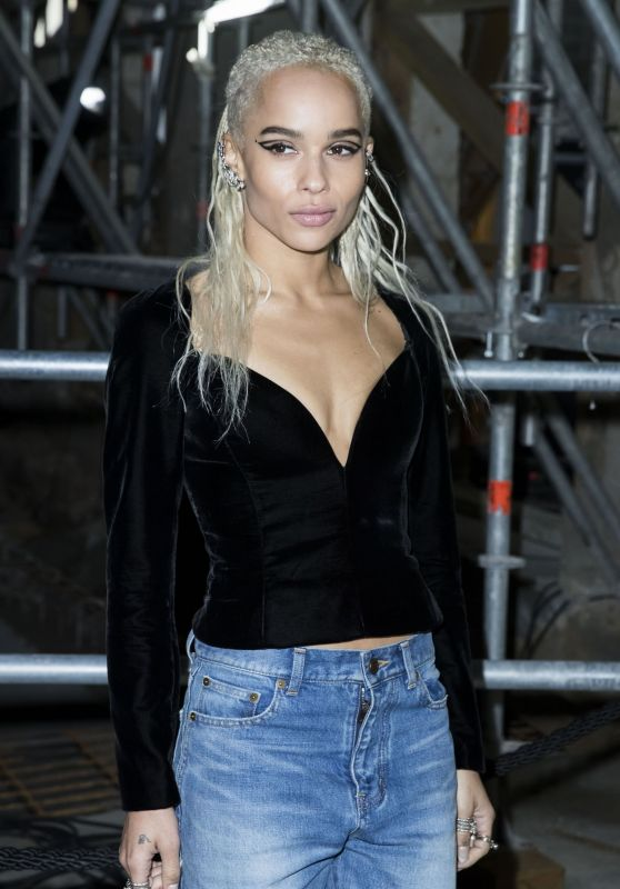 Zoe Kravitz Paris Fashion Week - Saint Laurent Show Autumn Winter 2017