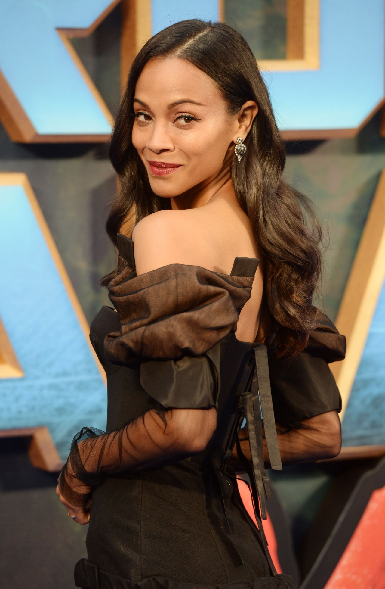 Image result for guardians of the galaxy 2 movie premiere zoe saldana