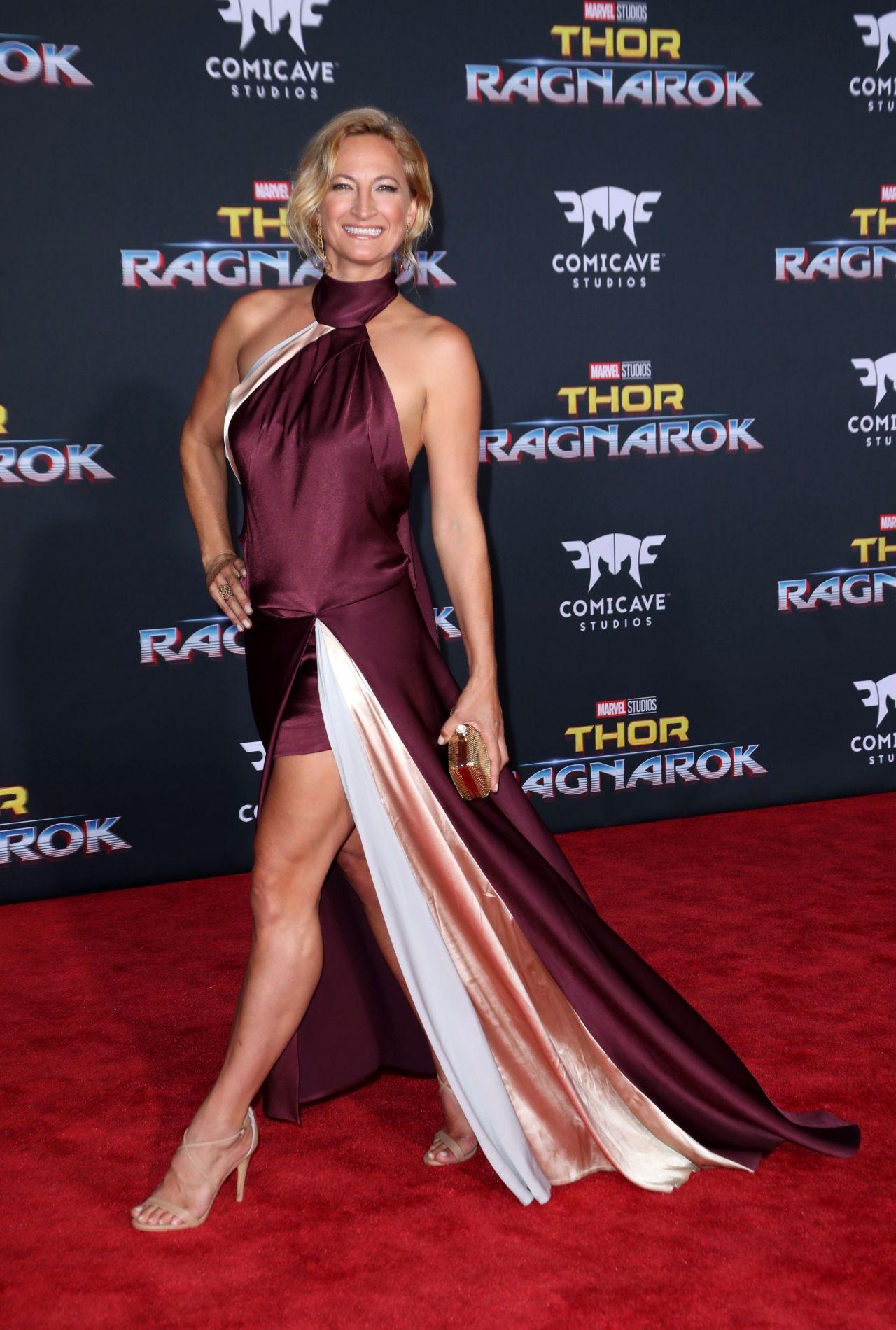 Zoe Bell Thor Ragnarok Premiere In Los Angeles