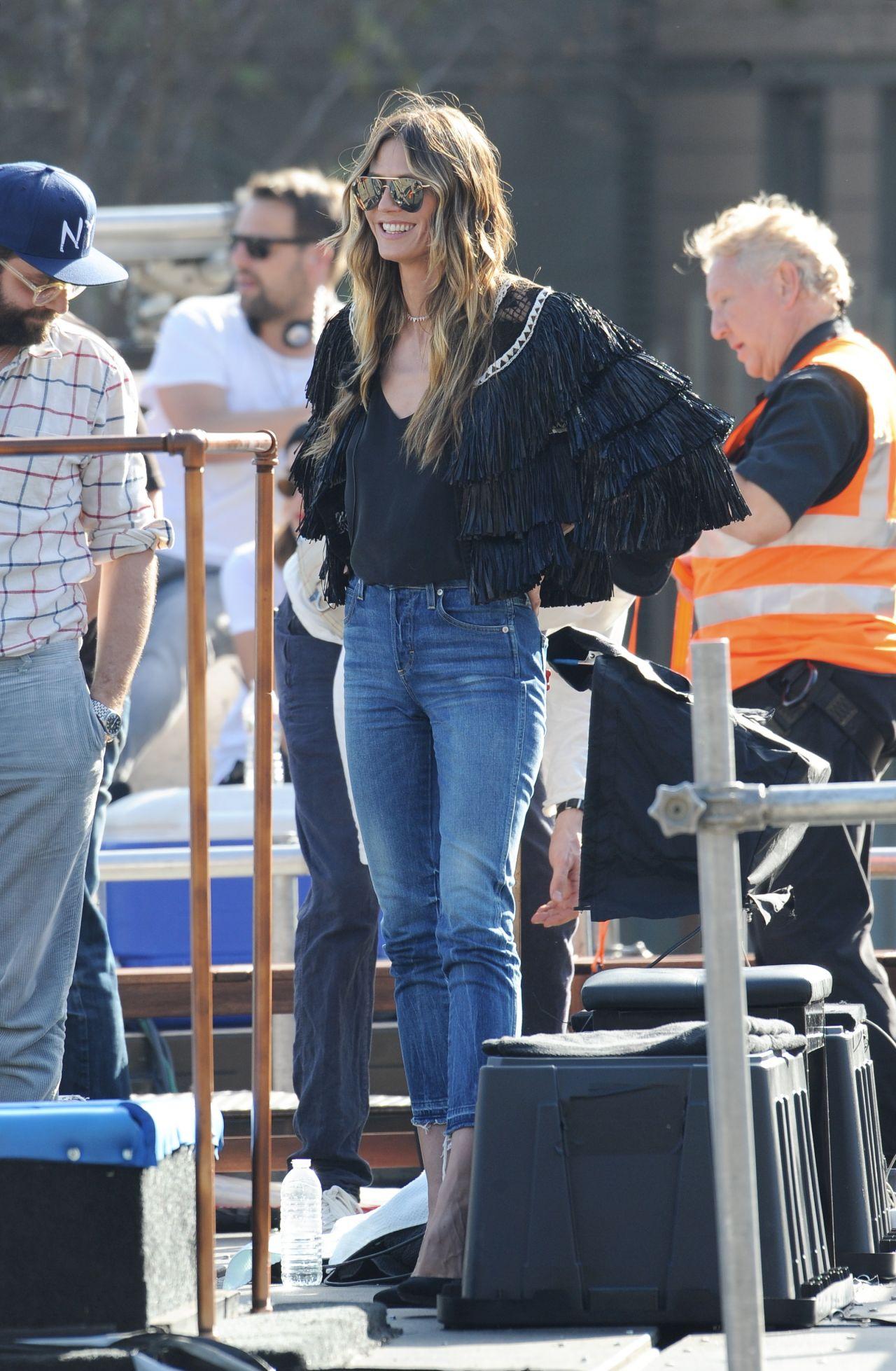 Heidi Klum Germanys Next Top Model Filming In Hollywood