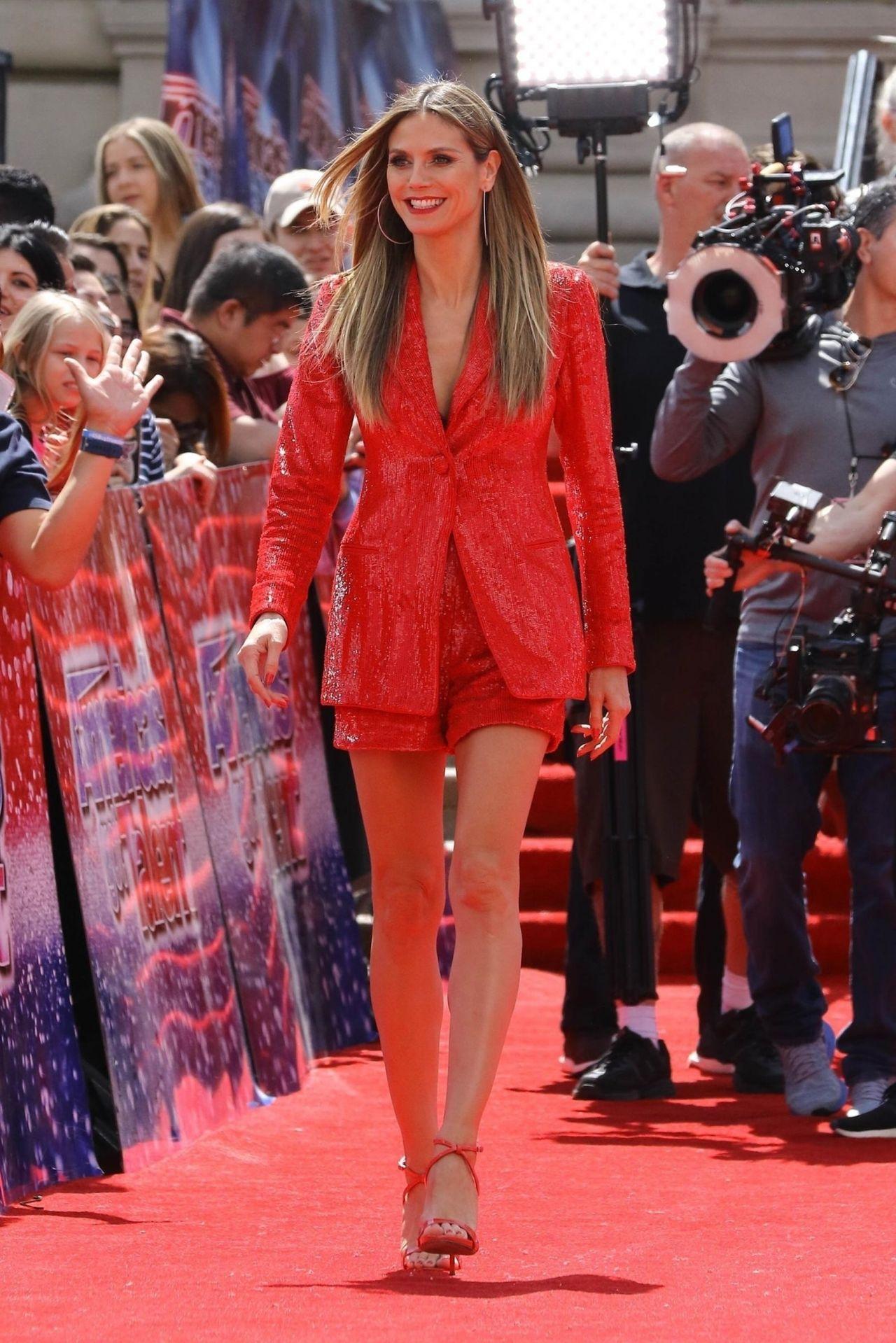 Heidi Klum Arriving At Americas Got Talent In Pasadena