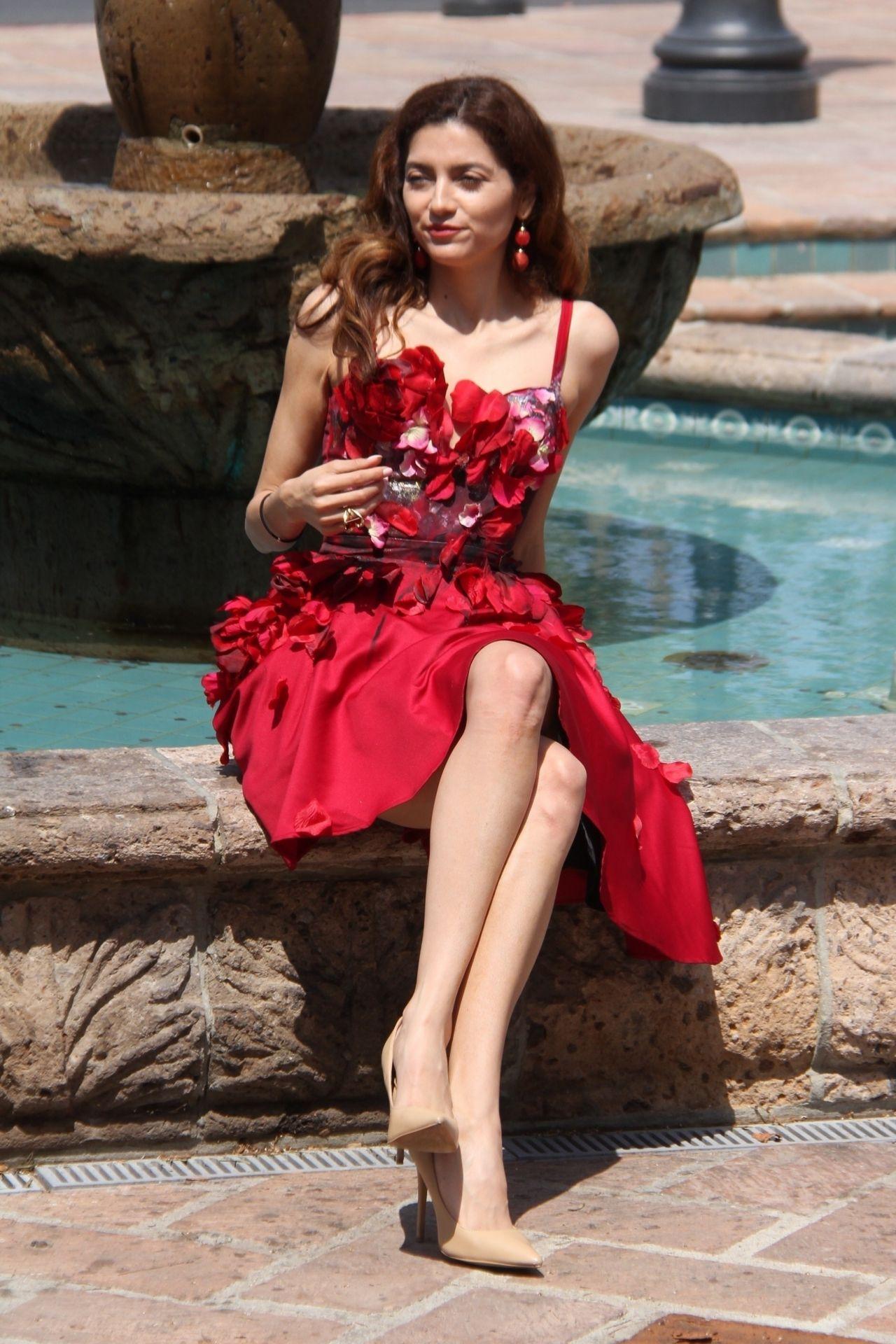 Blanca Blanco In A Red Dress In Malibu 07 18 2018