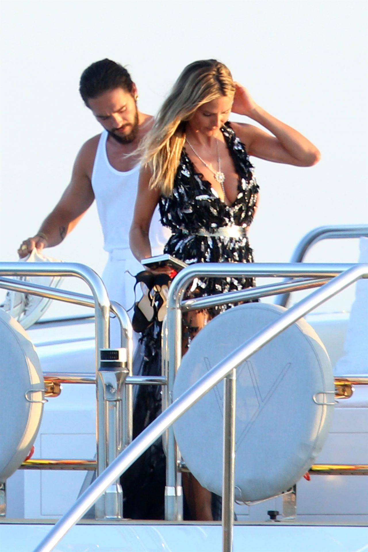 Heidi Klum And Tom Kaulitz On A Yacht In Sardinia 08102018