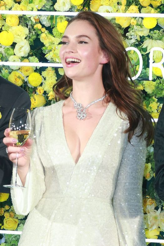 Lily James - Bvlgari's Fiorever Jewelry Collection Press ...