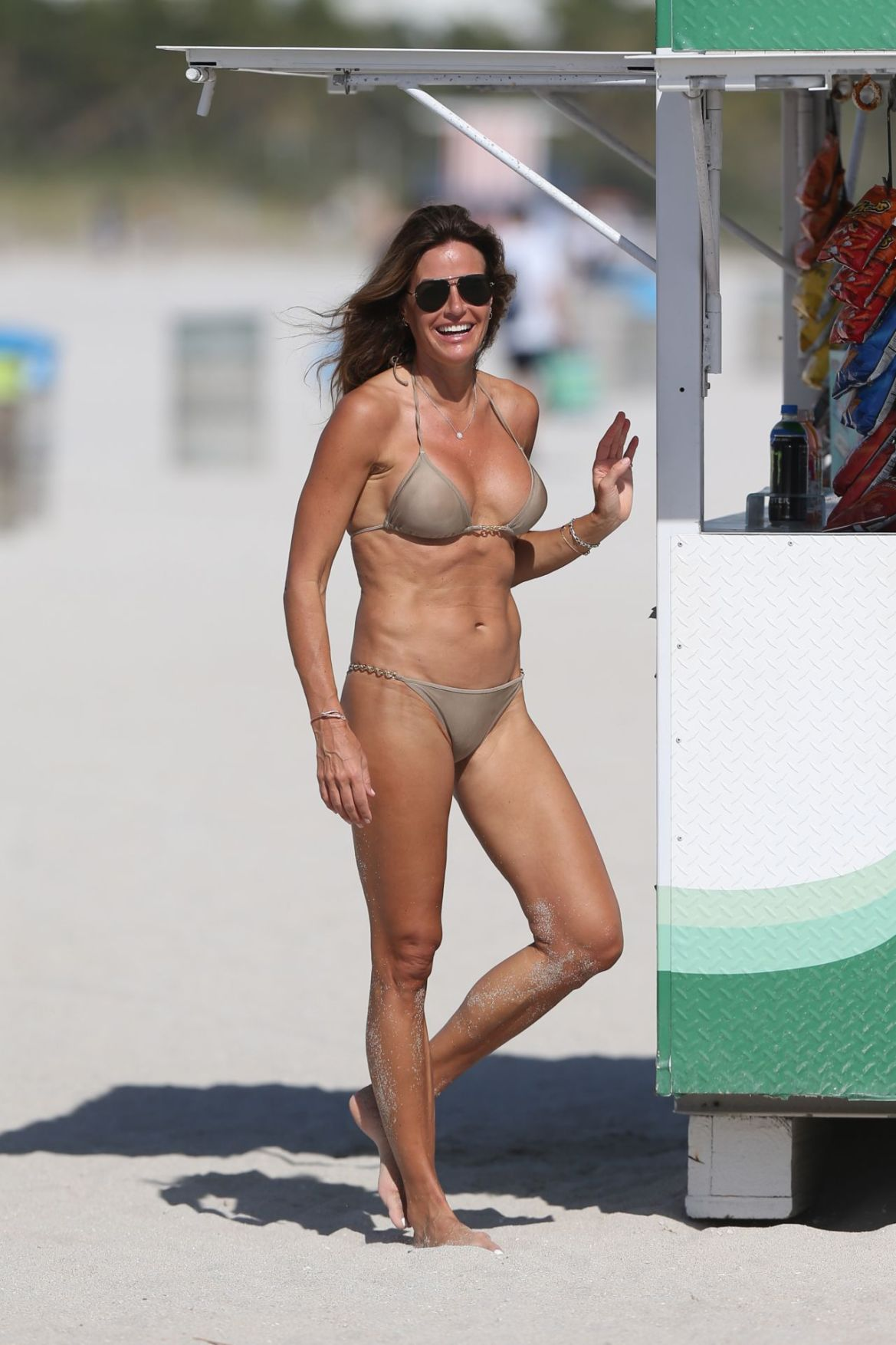 Kelly Bensimon in a Metallic Bikini 01/01/2019