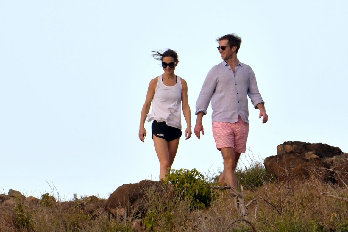 Pippa Middleton – Colombier Beach in St Barts 12/30/2018