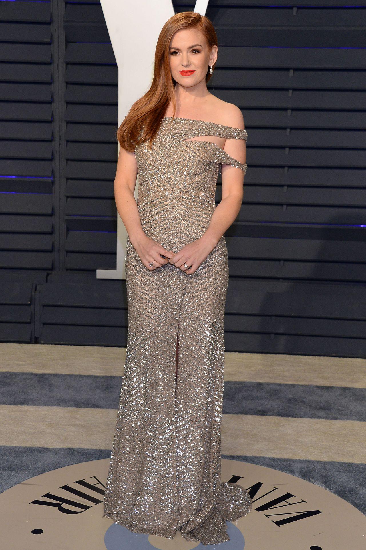 Isla Fisher 2019 Vanity Fair Oscar Party