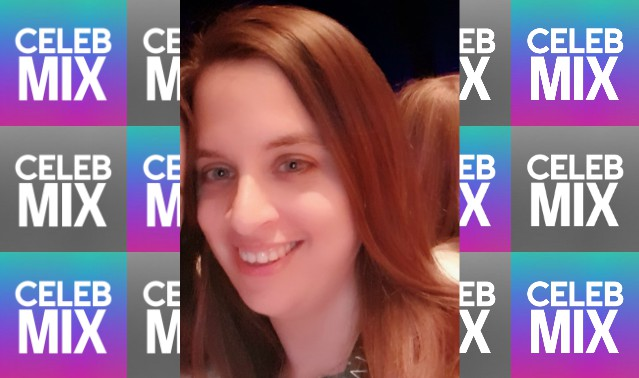 CelebMix logo background with Writer Vanessa