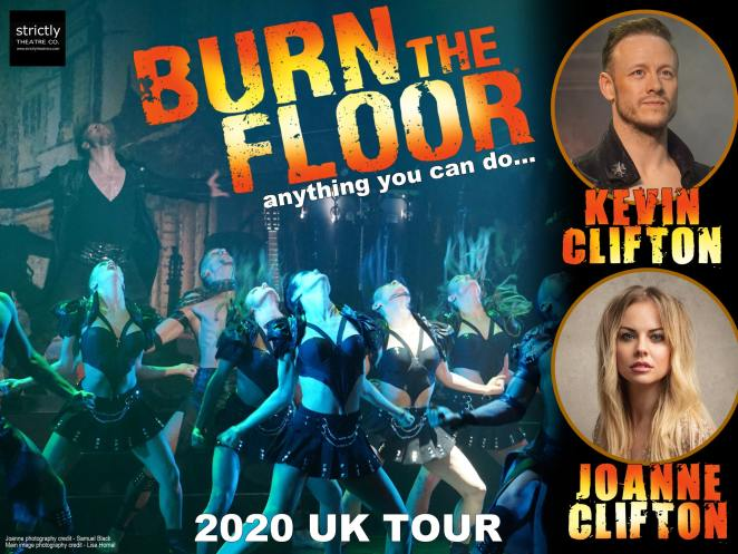 Joanne Clifton and Kevin Clifton's Burn the Floor promotional poster