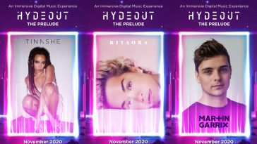 Tinashe, Rita Ora and Martin Garrix Hydeout: The Prelude posters