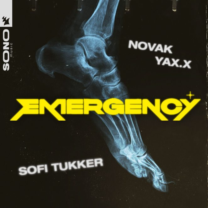 "SOFI TUKKER, Novak & YAX.X - ""Emergency"" single artwork"