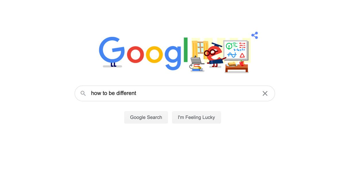 When you are not different even Google is against you