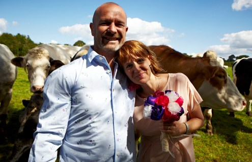 Jenny and Mark at the Animal Sanctuary
