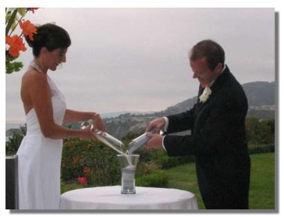 Sand Ceremony couple