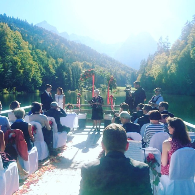 Ceremony on a Glacial Lake in Bavaria