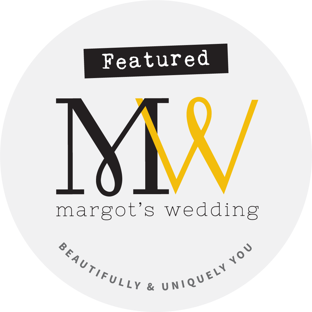 logo showing that the company are featured in a blog written for the wedding industry