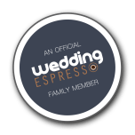 Official Supplier Badge Wedding Espresso