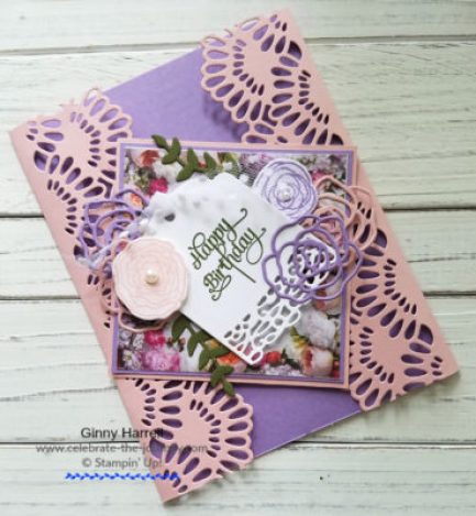 Delicate Lace Edgelits Stampin' Up Ginny Harrell PCC#304