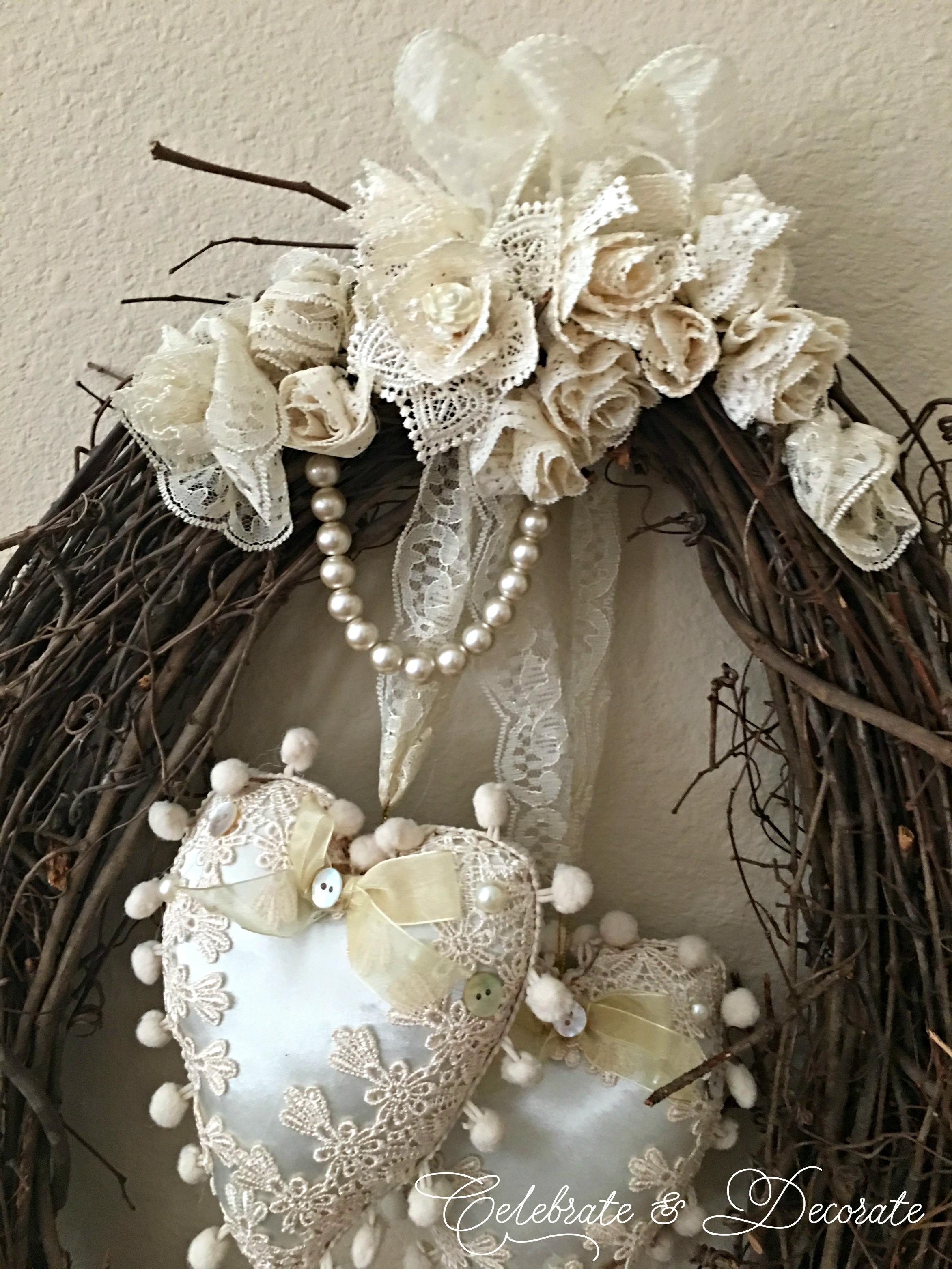 Vintage Style Valentines Wreath Celebrate Amp Decorate