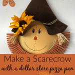 Make A Pizza Pan Scarecrow Celebrate Decorate