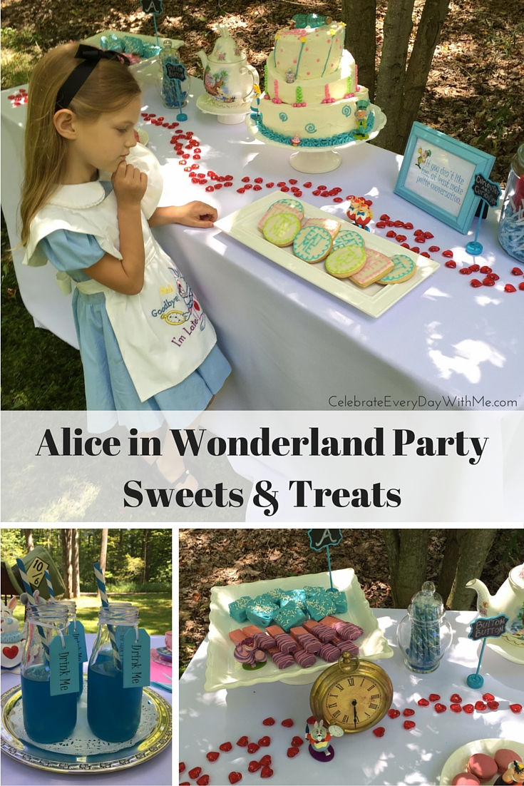 Alice In Wonderland Party Sweets Amp Treats Celebrate
