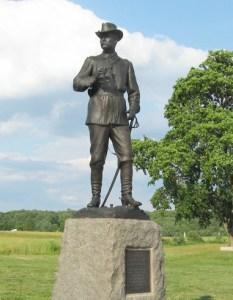 Monument to General John Buford at Gettysburg