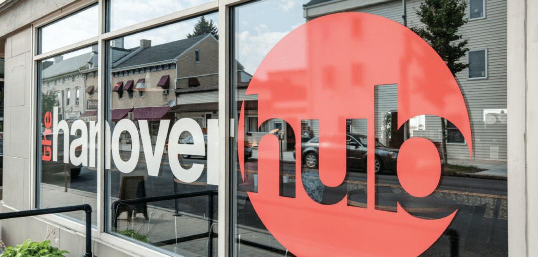 The Hanover Hub front window