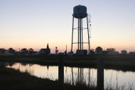 The water tower became a major focal point instead of an eyesore