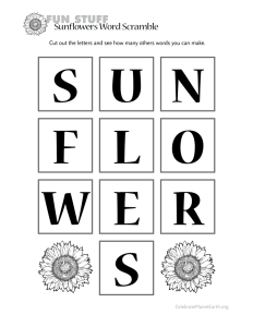 Sunflower Activities
