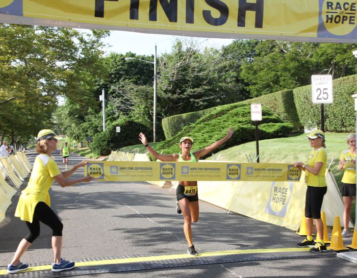 Tara Farrell at Finishing Line