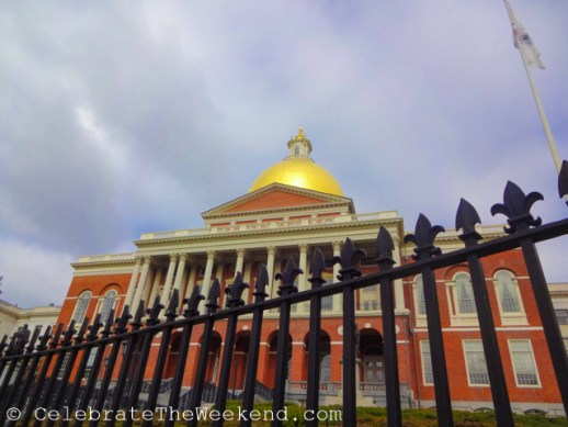 State House during weekend tour of Boston with celebratetheweekend.com and Free Tours by Foot