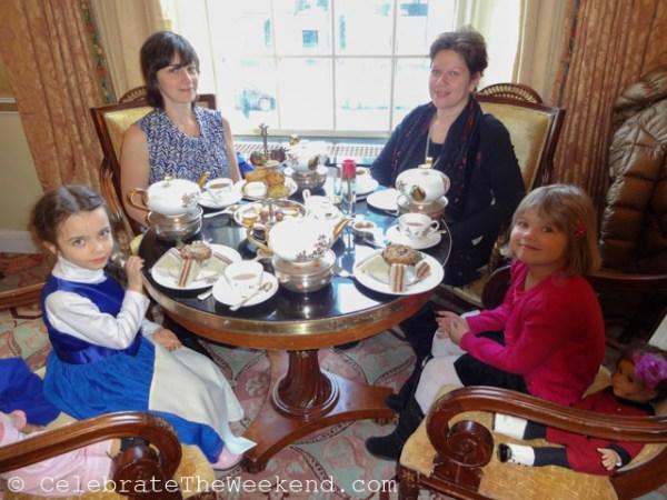 Enjoying afternoon tea at Taj Boston