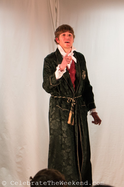 "Den as Famusov in ""The Woes of Wit"""