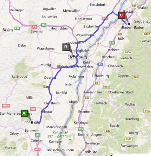 15day Family European road trip itinerary with maps