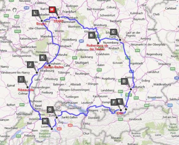 Map Of France Germany Switzerland.15 Day Family European Road Trip Itinerary With Maps