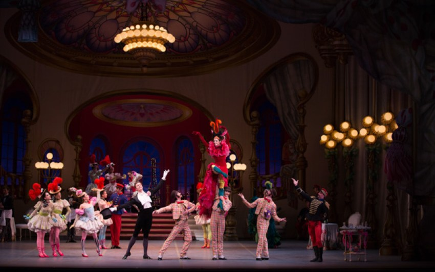 Kaleidoscope Boston Ballet in Léonide Massine's Gaîté Parisienne; photo by Rosalie O'Connor, courtesy of Boston Ballet