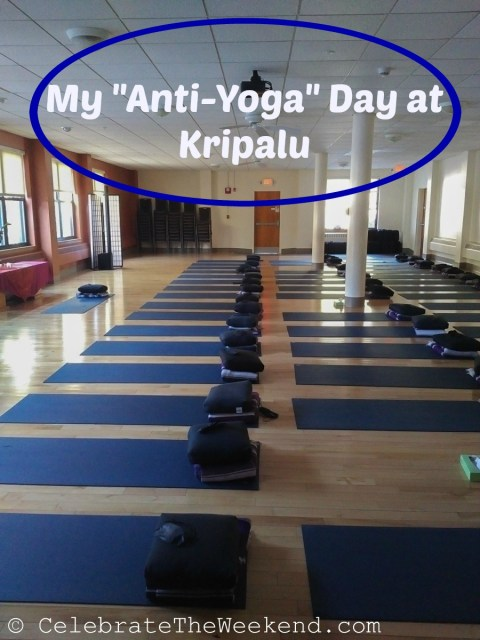 My anti0yoga recharge at the Kripalu center in the Berkshires of Western Massachusetts