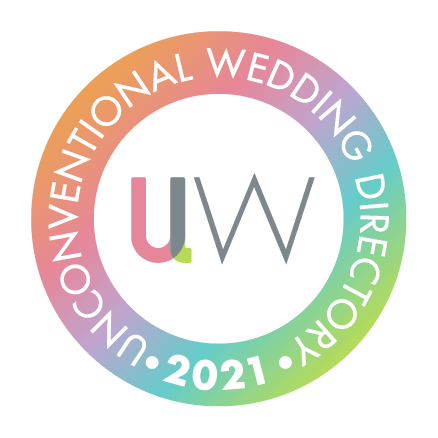 Rainbow Badge Member of Unconventtional Wedding Directory