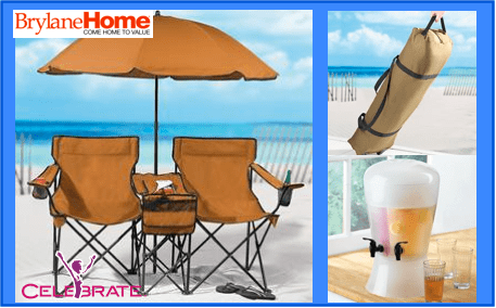 BrylaneHome-Outdoor-Furniture-BeachSet-DrinkDispenser