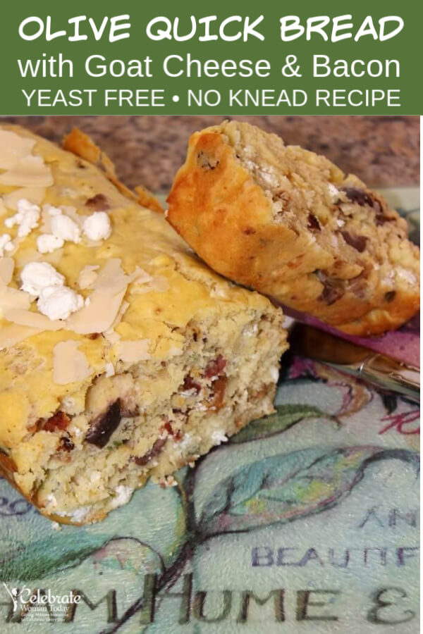 Goat Cheese Bacon Olive Quick Bread Recipe