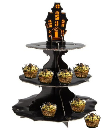 Halloween Centerpiece Ideas - Cupcake Stand