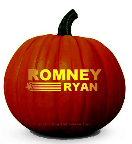 Romney Ryan Pumpkin Carving Pattern