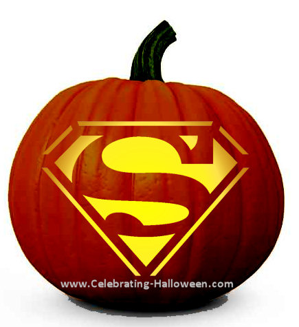 photo relating to Superman Pumpkin Stencil Printable titled Superman Pumpkin Carving Stencil - Celebrating Halloween