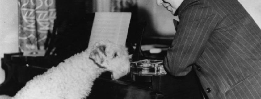 Arthur Benjamin with his dog