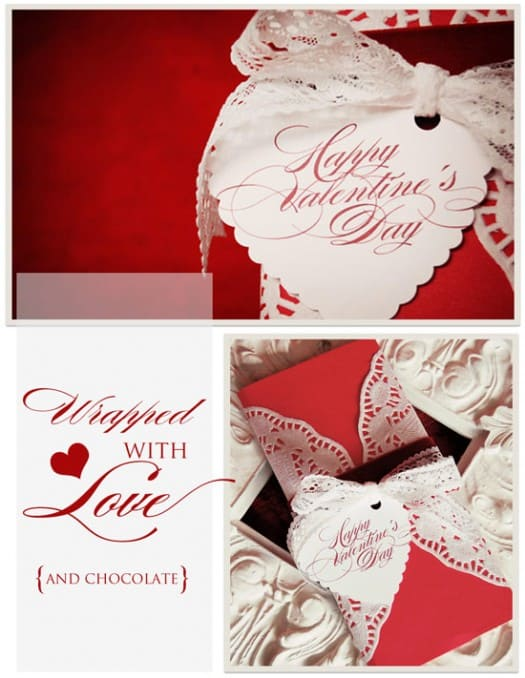 How to :: Wrap a Pretty Valentine's Gift