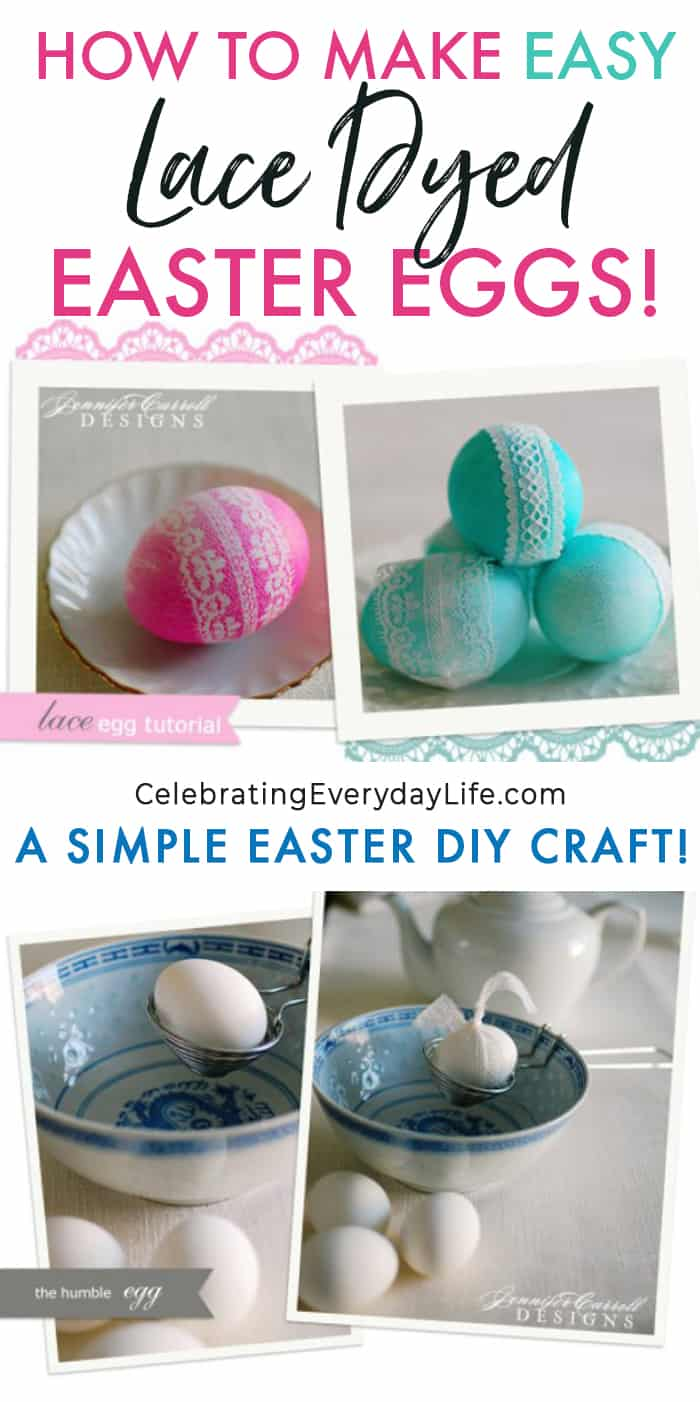 How to Dye Lace Easter Eggs